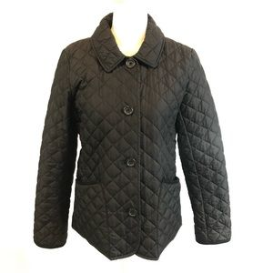 Banana Republic Womens M Black Quilted Jacket